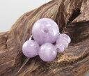 【10%割引クーポン配布中】 数珠(念珠)道具セット 藤雲石 《ラベンダーアメジスト》 17ミリ