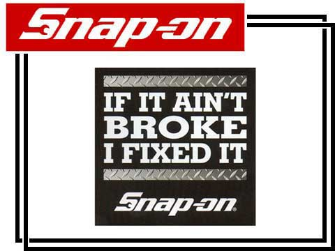 Snap-on(スナップオン)ステッカー「IF IT AINT BROKE DECAL」