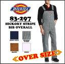DICKIES(ディッキーズ)HICKORY STRIPE BIB OVERALL 【HICKORY STRIPE】オーバーオール ヒッコリーストライプ 1stOS