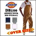 DICKIES(ディッキーズ)RINSED DUCK BIB OVERALL 【BROWN DUCK】オーバーオール ブラウン 1stOS