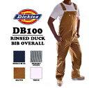ショッピング限定 DICKIES(ディッキーズ)RINSED DUCK BIB OVERALL 【BROWN DUCK】オーバーオール ブラウン