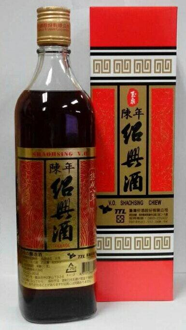 横浜中華街 TTL 台湾 陳年紹興酒(玉泉) 熟成8年、 16.5度、600ml X 6本(セット売り)、台湾紹興酒・台湾の純粋天然醸造酒♪