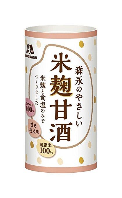 【送料無料】 森永製菓 森永のやさしい米麹甘酒 125ml×30本 ケース販売 砂糖不使用 賞味期限2018年9月1日