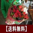 送料無料 あす楽 バラの花束(ブーケ)選べる4色 薔薇の花束 お花 祖母 誕生日 プレゼント 花 母