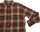 ショッピング日本初 アメリカンリビング 長袖 チェック ネルシャツ 赤 レッド メンズ American Living CHECK SHIRTS 001