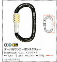 【 KONG 】オーバルワンカーボンスクリュー(ワーク、レスキュー用カラビナ)