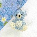 すくも藍ビーズキット NO-3 藍熊 くま ビーズキット 手芸キット キット トーホー すくも藍ビーズ 阿波藍 徳島 藍染め Natio クマ ベアー アニマル 動物