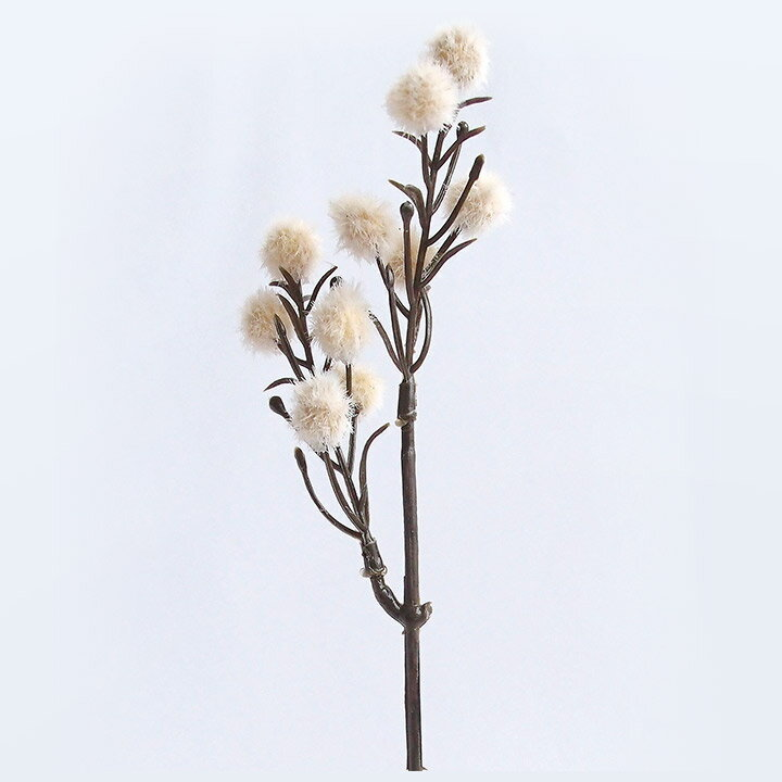 クラフトフラワーフェイクドライフラワーポロンオフホワイト|ドライハーバリウム手作りドライフラワー花材