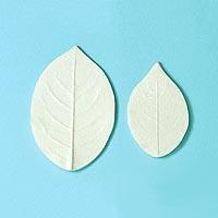 ねんど 粘土用具 押し型・抜き型 葉・花弁型(白プラ製) 504 バラ葉脈 【メール便可】