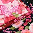 生地 綿布 花の詩 蝶 スケア SO-2070-1 【メール便可】|1m単位の切売り|桜|花|さくら