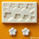 ねんど 粘土用具 樹脂粘土用ミニ型抜き お花の型 G-003 ぷっくりお花 【メール便可】