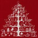 刺繍 DMC輸入キット クリスマスキット Christmas Tree 生地レッド  JPBK557R 刺繍キット 【刺繍・刺しゅう】刺繍キット 【ネコポス可】...
