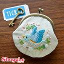 刺繍 キット piece Chicchiさんの動物刺しゅうキット がま口 とりさんとシロツメクサ 【メール便可】