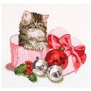 刺繍 刺しゅう輸入キット Thea GOUVERNEUR Christmas Kitten 731 【1個から宅配便】
