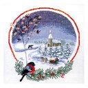 刺しゅう 輸入キット O.O.E. Circle in snow クリスマスの小鳥 【メール便可】刺繍 キット