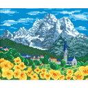 刺繍 刺しゅうキット オリムパス ワールドセレクション アルプスの山並み(スイス)