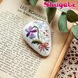 刺繍 キット piece Rairaiさんのノスタルジックフラワー ブローチ Violet bouquet 【ネコポス可】