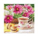 刺繍 輸入キット ALISA(アリサ) Flowers and birds Morning Tea 【メール便可】モーニングティー