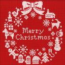 刺繍 刺しゅうキット オリムパス クリスマスリース(レッド) 【ネコポス可】