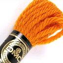 \5 クーポン配布中/刺繍 刺しゅう糸 DMC 4番 イエロー オレンジ系 タペストリーウール 7057 【メール便可】