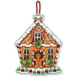 刺繍 輸入<strong>キット</strong> Dimensions クリスマスオーナメント<strong>キット</strong> Gingerbread House Ornament 【メール便可】