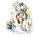 刺繍 Golden Fleece Friendship (友情)|ねこ かわいい クロスステッチ