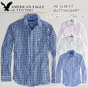 American eagle men casual shirt AE SLIM FIT BUTTON-SHIRT (four-colored )(S/M/L/XL) 【 RCP 】 10P06may13)