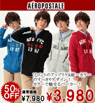 Rakuten champions sale, victory Memorial セールエアロポス tail mens parka AERO NYC ORIGINAL FULL-ZIP HOODIE (3553) (S, M, L, XL)