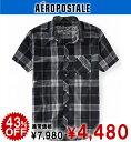 エアロポステール メンズ カジュアルシャツ SKATE PLAID WOVEN SHIRT ストーム (9903)(S,M,L,XL)(即日発送,あす楽,100%本物,正規品,直営店買付け,メンズ,大きいサイズ,新作,アメカジ)