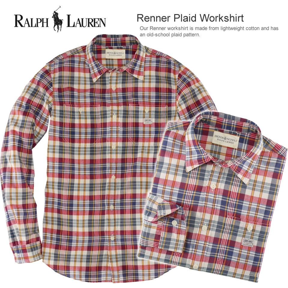 Polo Ralph Lauren men long sleeves work shirt Renner Plaid Workshirt ��ʩ`�ץ쥤�� (POLO RALPH LAUREN)(18515666)(S/M/L/XL), American casual, casual shirt, ...