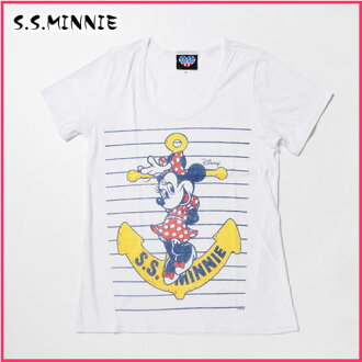 The best Rakuten in Japan sale, Japan's commemorative sale junk food Lady's short sleeves T-shirt S.S.MINNIE electric white (WD388-3163)(S/M/L/XL)