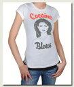ローカルセレブリティレディースTシャツCocaineBlowsT-shirtホワイト【セール】