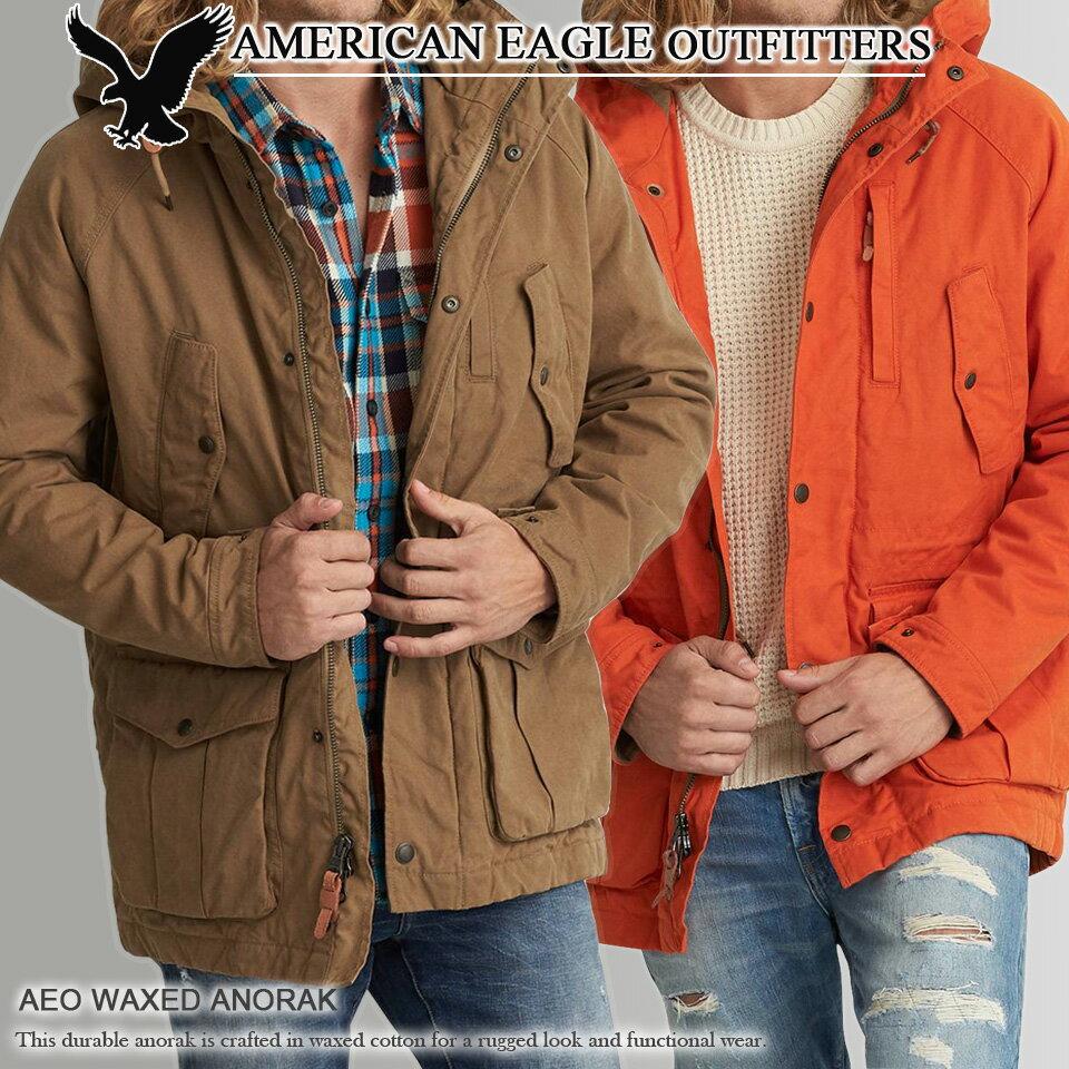アメリカンイーグル メンズ ワックスコットンパーカー