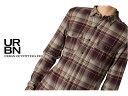 【掘り出し物市】【アーバンアウトフィッターズ】 メンズ カジュアルシャツ STANDARD CLOTH COTTON TWILL PLAID MILITARY SHIRT レッド..