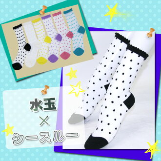 ☆ see-through x dot ☆ crew socks ♪ ♪ kalabari 6 colors