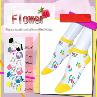 ☆ see-through x floral ☆ sneaker socks ♪ ♪