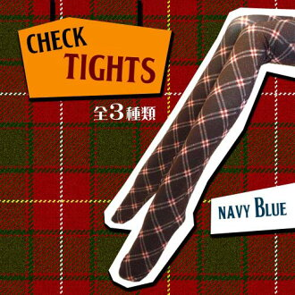 -Popular check tights-Tartan