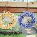 プリザーブドフラワーギフト/ピラミッドアジサイのリースS【送料無料】あじさい・お祝い・お誕生日・お礼・ホワイトデー・プレゼント・母の日・結婚祝い・新築祝い