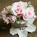 【あす楽対応_北海道】花七曜人気NO1アレンジピンクのバラポット【送料無料】大切な方への贈り物に♪プリザーブドフラワー/ギフト・お祝い・お誕生日・お礼・ホワイトデー・プレゼント・母の日・敬老の日・結婚祝い・新築祝い
