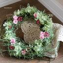 プリザーブドフラワーギフト / マイクロローズのミニリース【送料無料!】お祝い・お誕生日・お礼・ホワイトデー・プレゼント・母の日・結婚祝い・新築祝い
