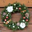 ショッピングリース 【送料無料!】クリスマスキャロル M/プリザーブドフラワー・クリスマスリース・りんご・ギフト・お祝い・お誕生日・お礼・プレゼント・結婚祝い・新築祝い