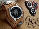 再入荷!【KC,s】雑誌掲載で爆発的な人気を誇る腕時計 レザーブレスウォッチ3コンチョウォッチ【】【高還元】【メンズ】【レディース】【革】【レザー】【smtb-tk】本革【FS708-7】【F2】