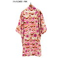 FRUITION フリューション TOWEL PONCHO:70's FLOWER PINK