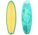 """カルフォルニアのアートをサーフィンへ。中古サーフボードCREAM (クリーム)  USED 5'10""""【送料無料】"""
