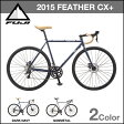 FUJI 自転車 15 FEATHER CX+ 完成車 フェザーシーエックス 全2色 各サイズ 2015モデル シクロクロス 【組立発送も可能!】 ROAD BIKE フジ FEATHERCX+