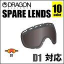 DRAGON ドラゴン ゴーグル D1 D2 DX 対応 ミラー系 スペアレンズ LENS 交換レンズ 替えレンズ スノーゴーグル 日本正規