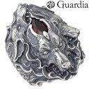 ショッピングGARNET Guardia【ガルディア】リング 指輪 メンズ シルバー ケルベロス ガーネット 17〜21号 925 スターリングシルバー ATR-007