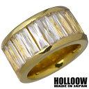 ホロウ HOLLOOW リング 指輪 レディース メンズ シルバー ジュエリー ゴールド キュービック 10〜25号925 スターリングシルバー KHR-66GD