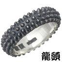 【龍頭】 RYUZU リング 指輪 メンズ シルバー ジュエリー 霰 あられ スカーフ 14号 950 ブリタニアシルバー RYUZU-R-90