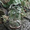 信楽焼 和風 おしゃれ カッパメス(大) 縁起物のかっぱ置物 陶器カッパ しがらき 焼き物 置き物 庭 河童 ok-0012